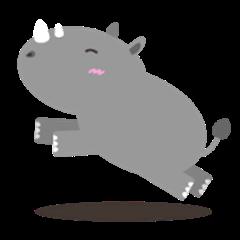 The Cute Fat Baby Rhino