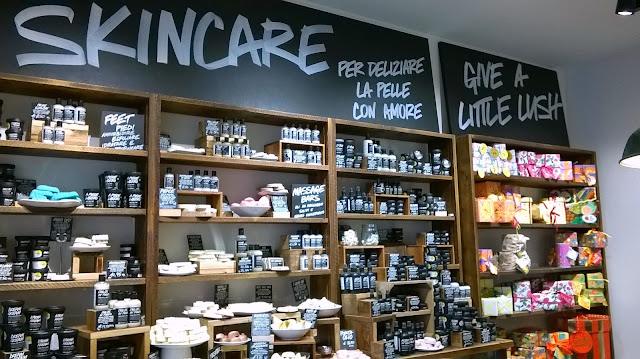 Throwback Tuesday, my first visit at Lush Naples store: skincare section