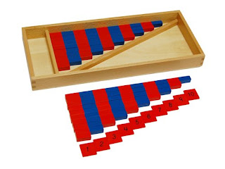 Alternative to large Montessori numerical rods: Small numerical rods