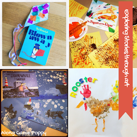"<img src=""storytelling through art.png"" alt=""painted art projects and books"">"