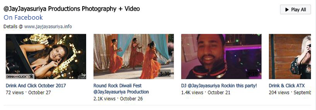Jay's videos on Facebook