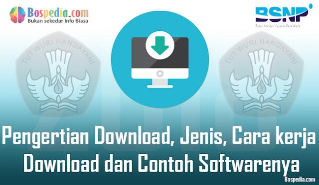 Pengertian Download, Jenis, Cara kerja Download dan Contoh Softwarenya