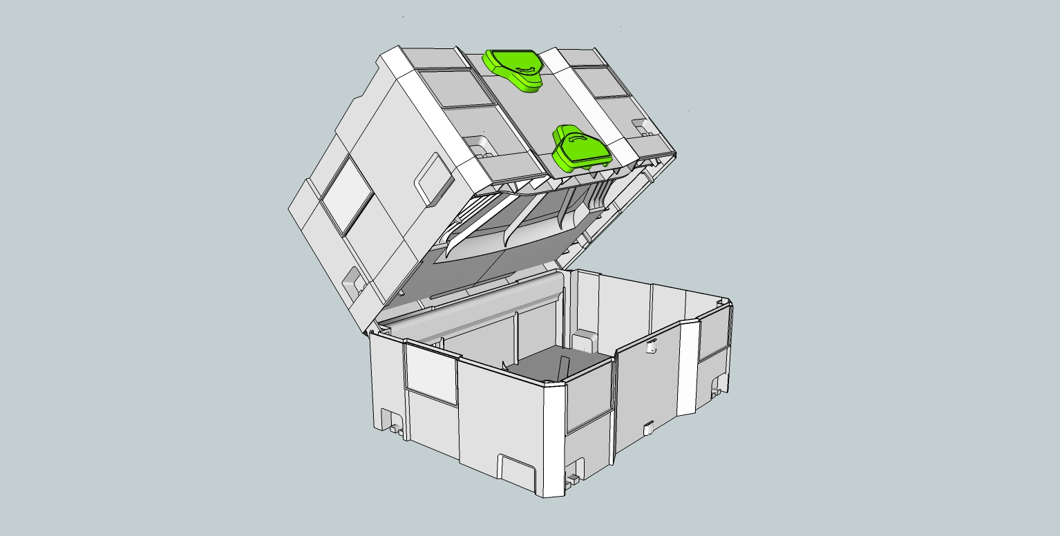 SketchUp model of the Festool T-Loc Systainers. | The Green and Dark ...