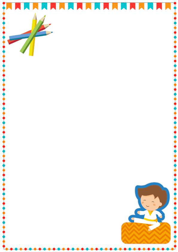 caratulas para cuadernos para niños y niñas de primaria de karate