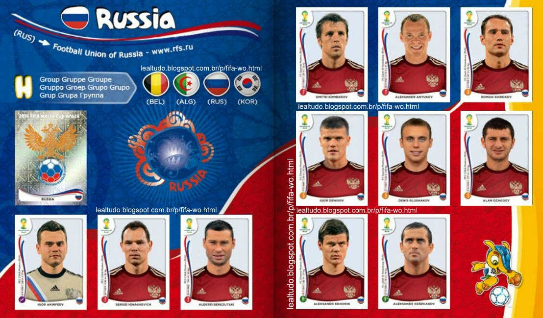 Album RUSSIA Fifa World Cup BRAZIL 2014 LIVE COPA DO MUNDO Sticker Figurinha Download Lealtudo
