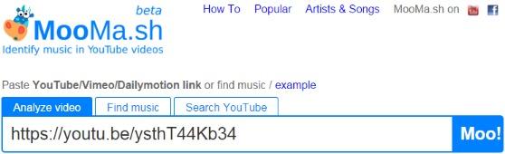 как распознать музыку из видео ютуб?
