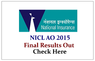 NICL AO 2015 Final Results Out