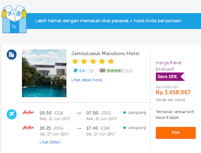 paket tiket hotel traveloka
