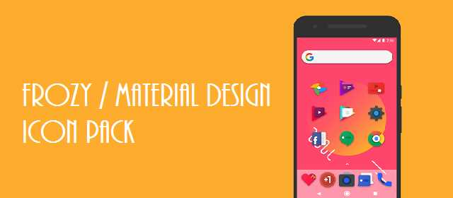 Frozy Material Design Icon pack android apk indir