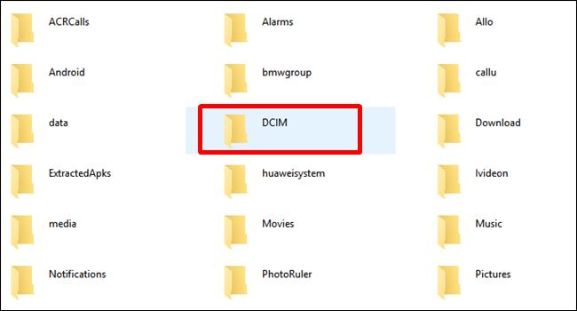 cartella DCIM