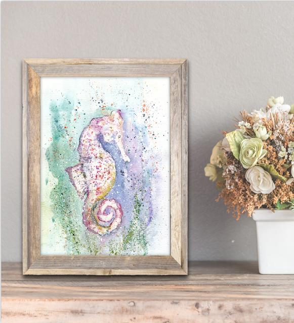 Seahorse Watercolor