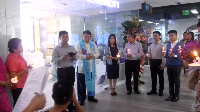 Blessing of SkinStation and Chemworld stores by Msgr. Claro Matt M. Garcia, who is the  Parish Priest of Saint Alphonsus Mary de Liguori Parish in Magallanes Village, Makati City, Spiritual Director, Association of Papal Awardees, and Vicar Forane, Vicariate of Holy Spirit (Espiritu Santo).
