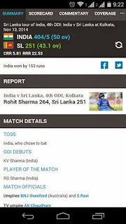 Rohit Sharma India VS Sri Lanka Cricket ODI Match