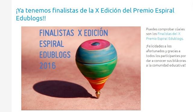 http://espiraledublogs.org/comunidad/Edublogs/recurso/finalistas-del-x-premio-espiral-edublogs/fdd7b772-fe68-4ff8-8a56-c101225120f9