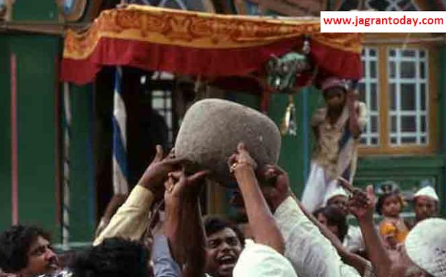 Trjani Ungali se Uthaya 90 Kilo ka Patthar