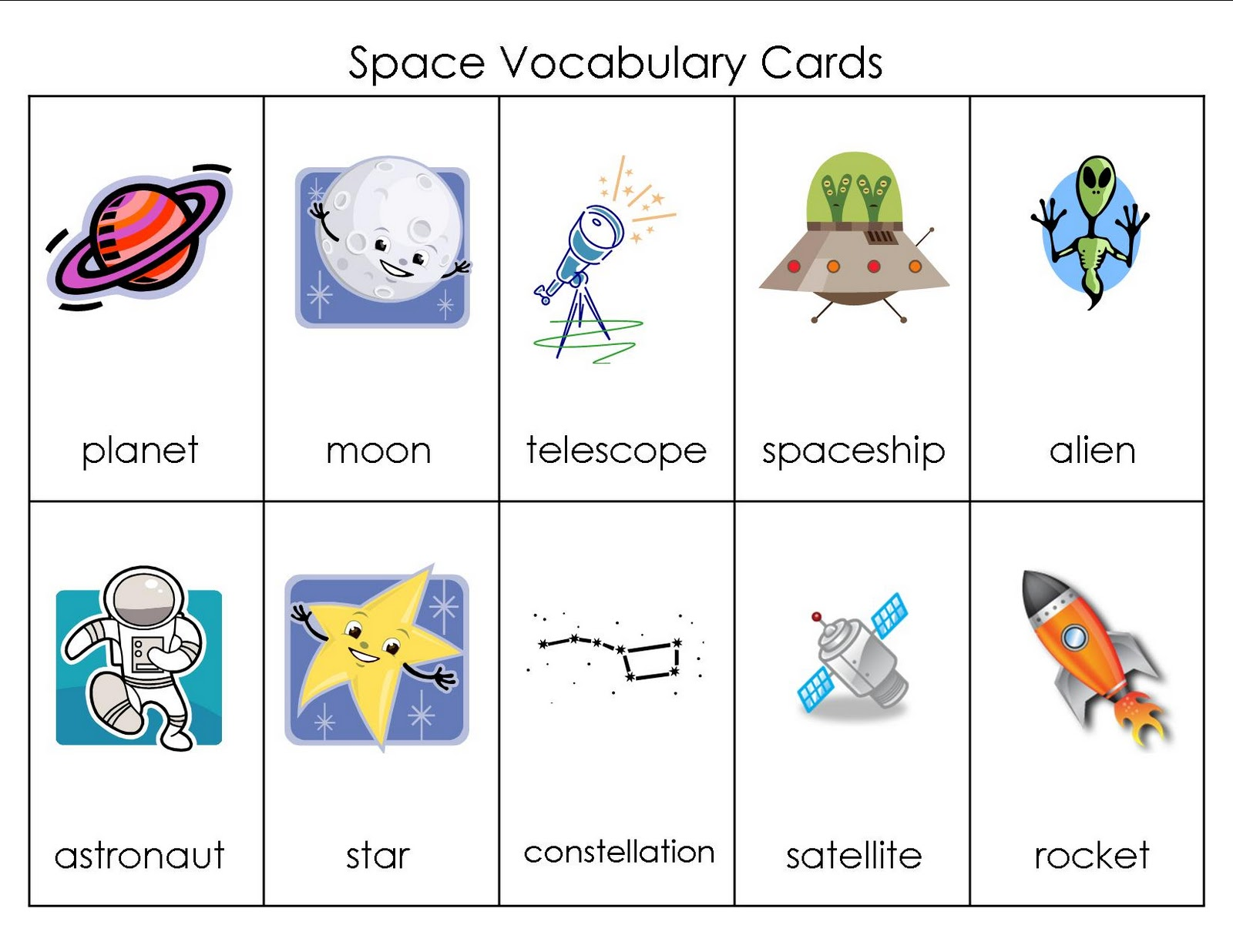 spacecraft vocabulary - photo #1