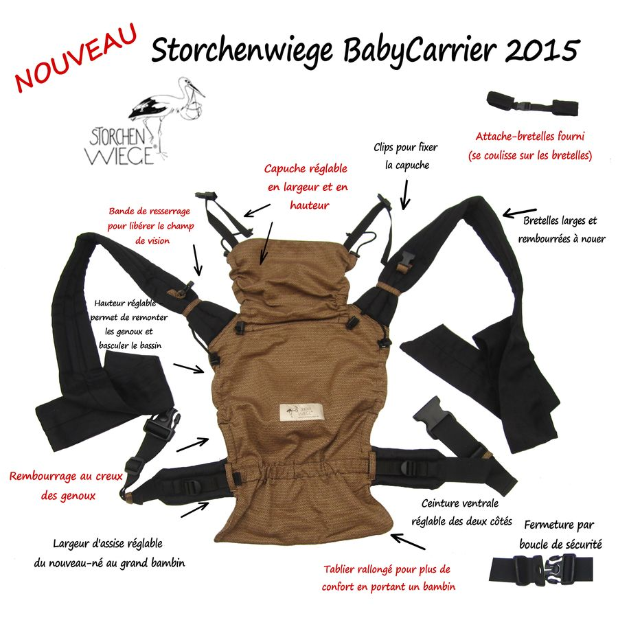 8138581243b test portage babycarrier storchenwiege hybride mei-tai halfbuckle avis porte -bébé mei-tai