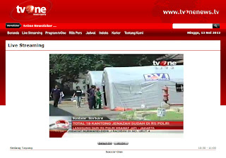 Live Streaming dari TVOne