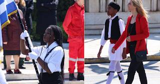 Παιδιά μεταναστών και προσφύγων συμμετείχαν στη μαθητική παρέλαση της Αθήνας - ΕΙΚΟΝΕΣ