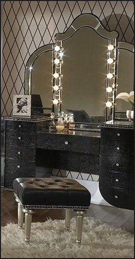 bedroom vanity sets with lighted mirror wood shop at home decorating glam 20291