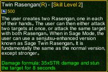 naruto castle defense 6.0 naruto Twin Rasengan detail