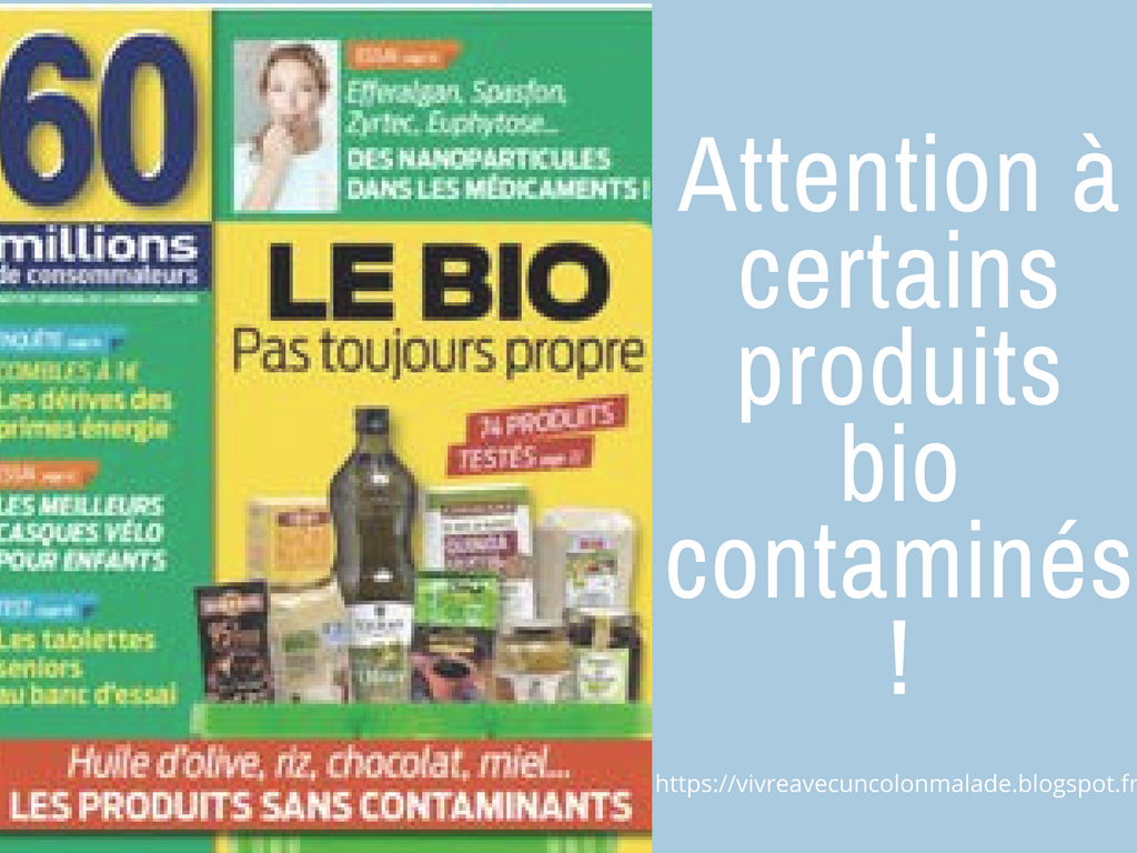 attention à certains produits bio contaminés (pesticides)