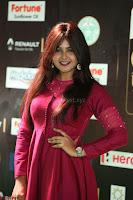 Monal Gajjar in Maroon Gown Stunning Cute Beauty at IIFA Utsavam Awards 2017 056.JPG