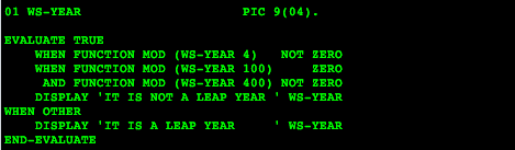 Mainframe Tips N Tricks: Find if a Year is Leap Year