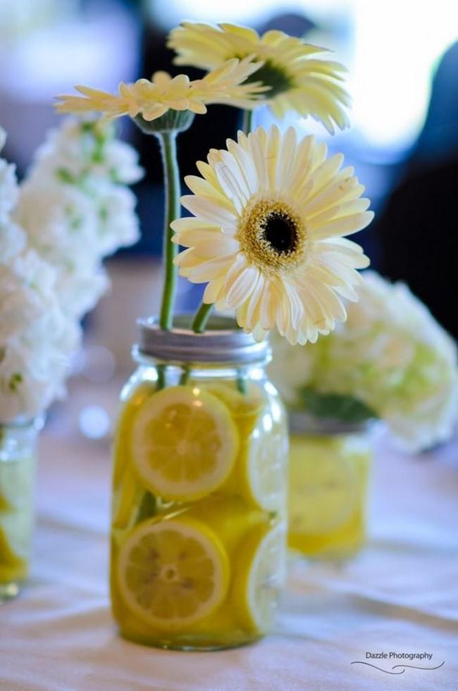 Centros de mesa con limones