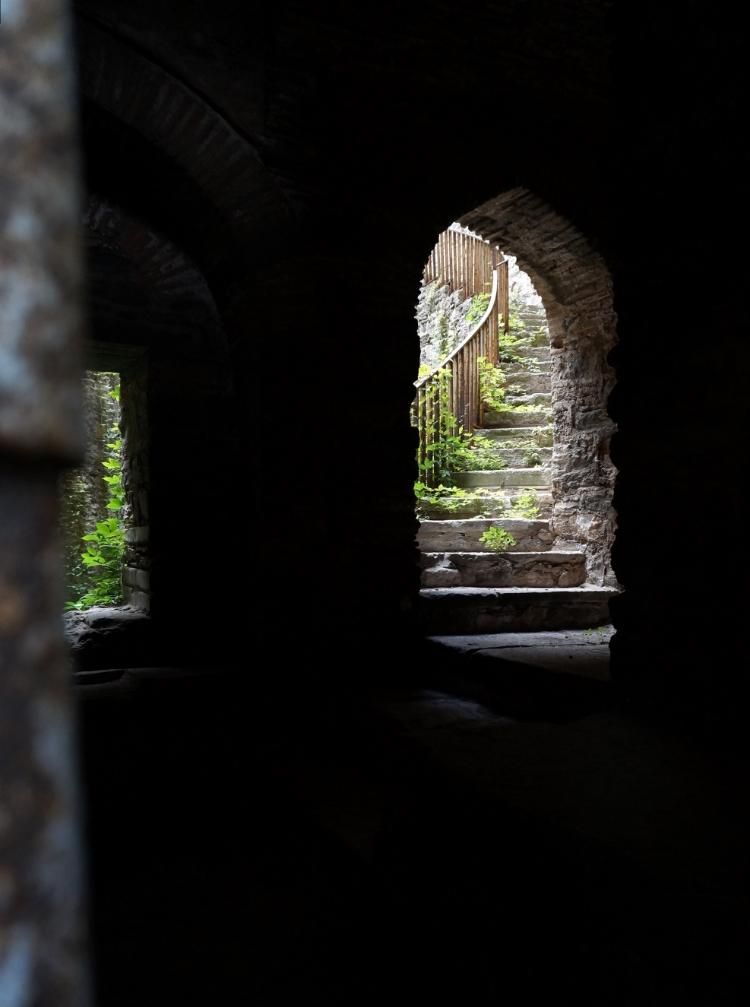 Euriental | secret staircase at Rumelihisari in Istanbul, Turkey