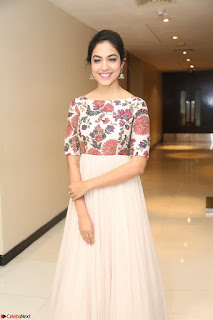Ritu Varma smiling face Cream Anarkali dress at launch of OPPO New Selfie Camera F3 ~  Exclusive 059.JPG