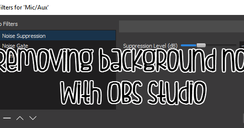 how to set up noise gate obs