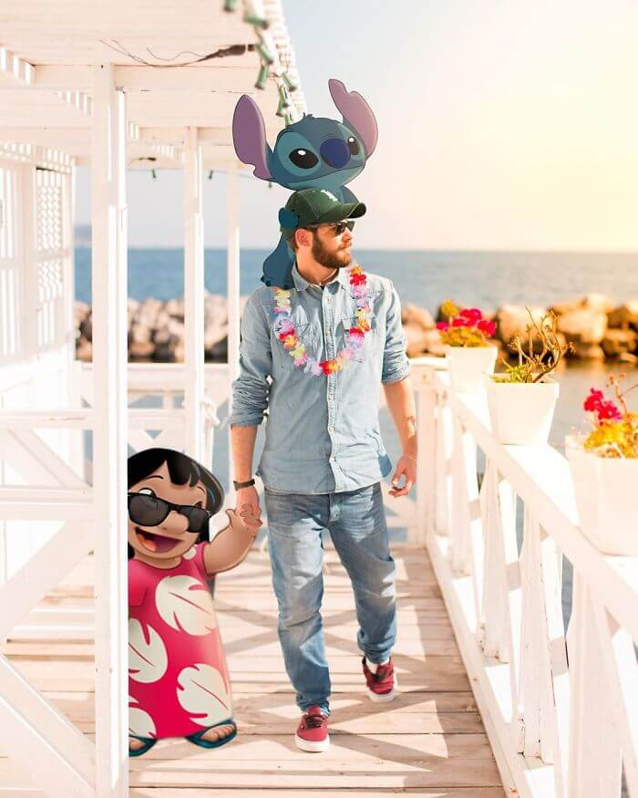 Hilarious Photoshopped Images Of Guy Having Fun With Our Favorite Disney Characters
