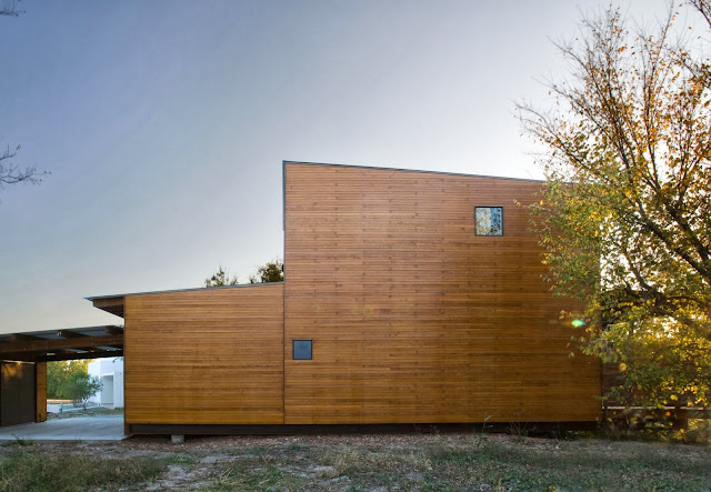 "unique wood LEED House ""Like A Houseboat"""