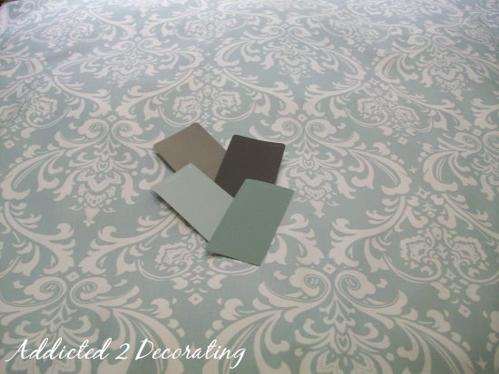 fabric damask green 40 m