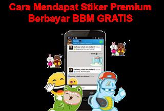 Trik Cara Mendapat Stiker BBM Premium Berbayar Gratis