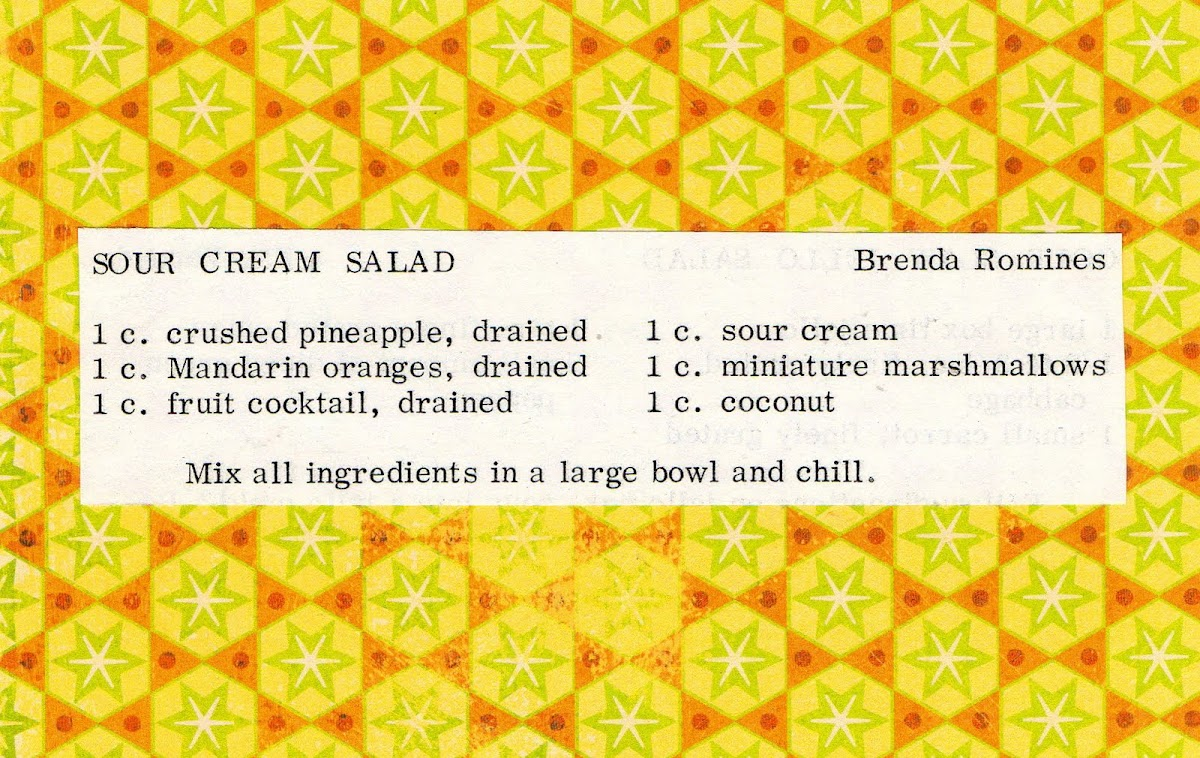 Sour Cream Salad (quick recipe)