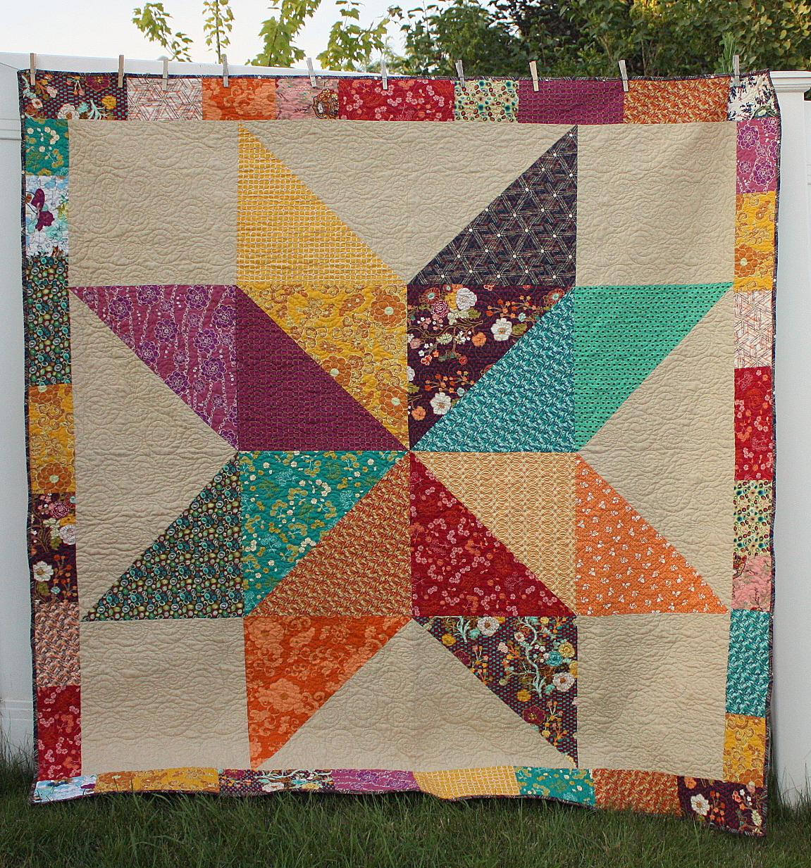 Fat Quarter Giant Star Quilt : quilted star pattern - Adamdwight.com