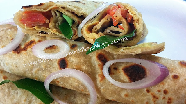 egg frankie recipe - chapathi egg roll recipe