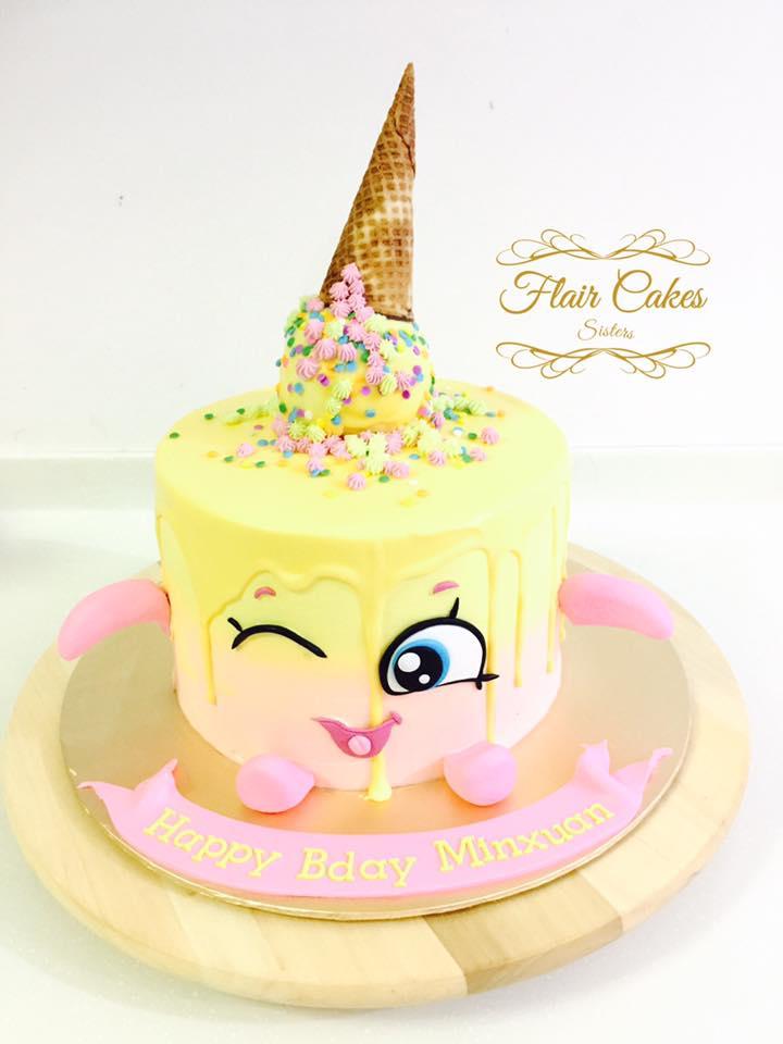 A Yellow Shopkins Cake