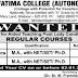 TN Govt Aided Fatima College (Autonomous) Madurai Recruitment 2018 Assistant Professor in English and Economics