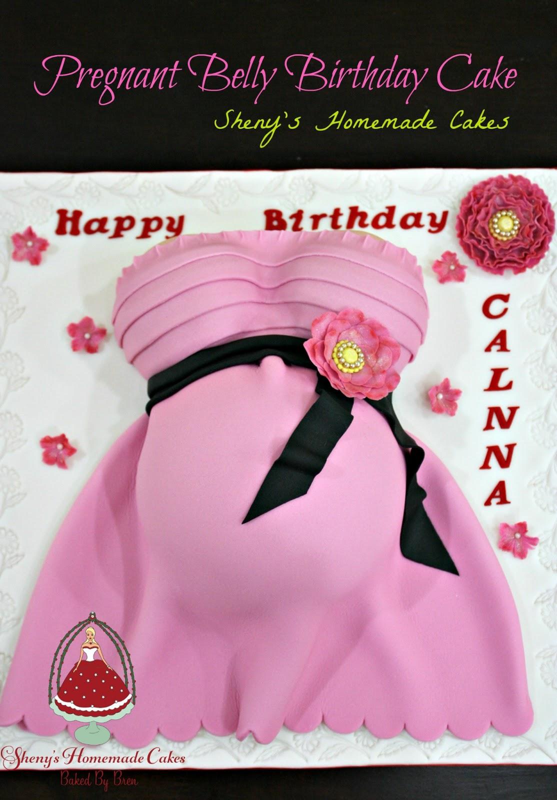 Sheny S Homemade Treats Pregnant Belly Birthday Cake