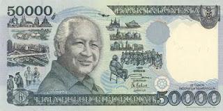 Uang 50 Ribu Rupiah - Soeharto
