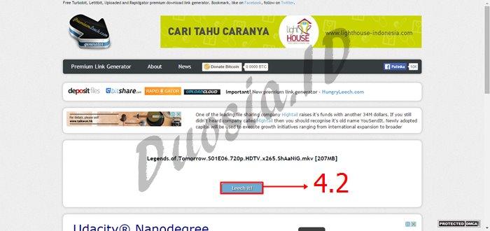 Cara Download di Uploaded.net dan Tanpa Akun Premium menggunakan premiumleech.eu Langkah ke 4.2