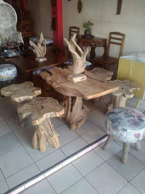 model furniture unik dari kayu jati