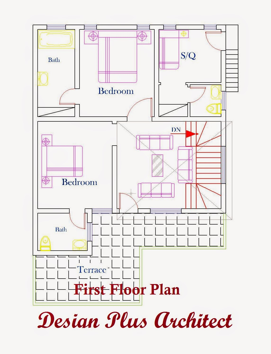 Home Plans In Pakistan  Home Decor  Architect Designer   d Home Plan d home palns  First Floor Plan