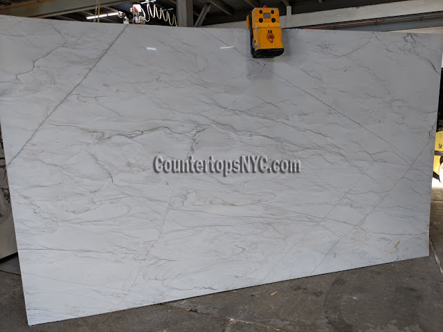 Calacatta brazil quartzite slabs for kitchen countertop