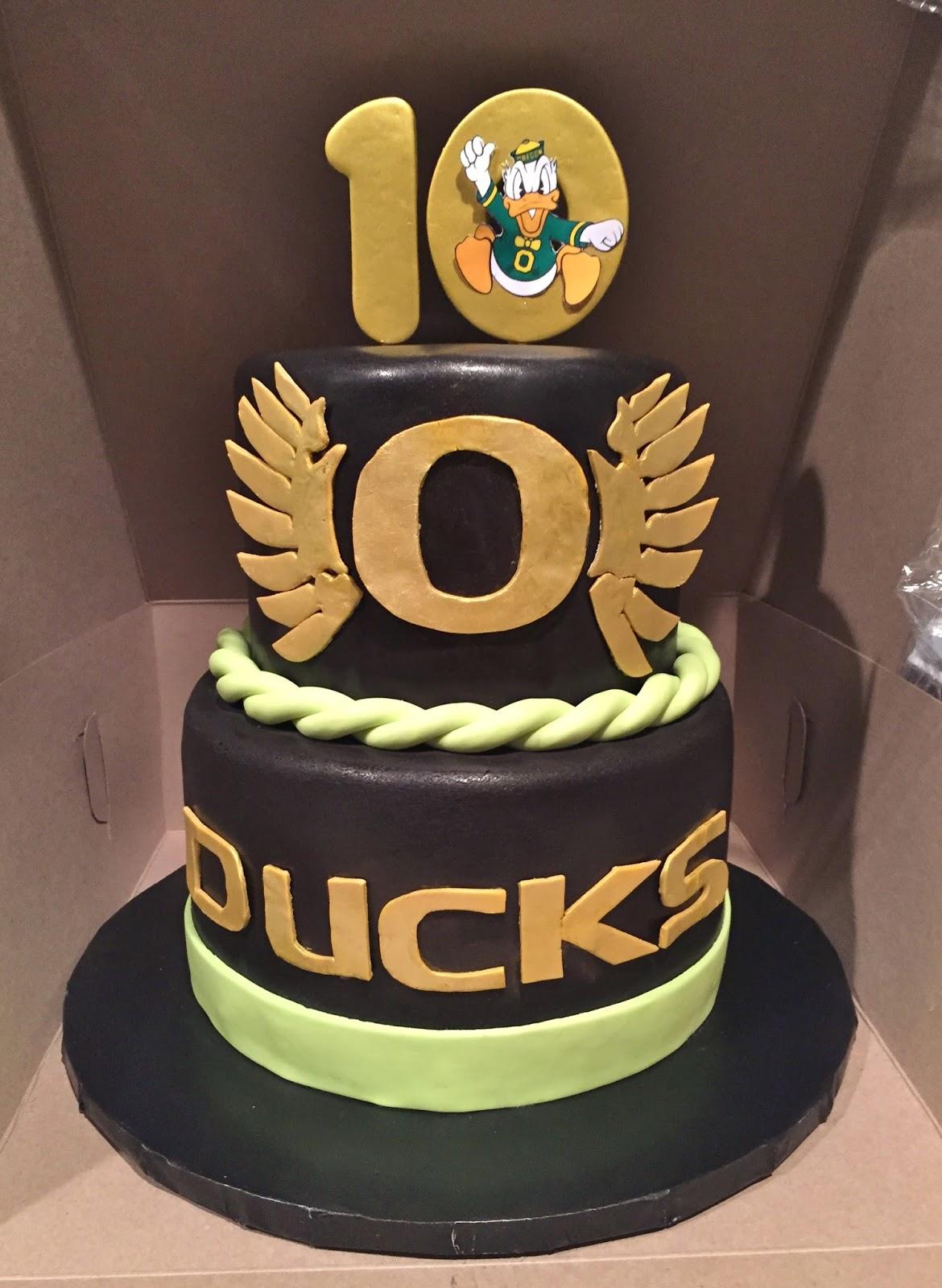 Cakes By Mindy Oregon Ducks Cake 6 Quot Amp 8 Quot