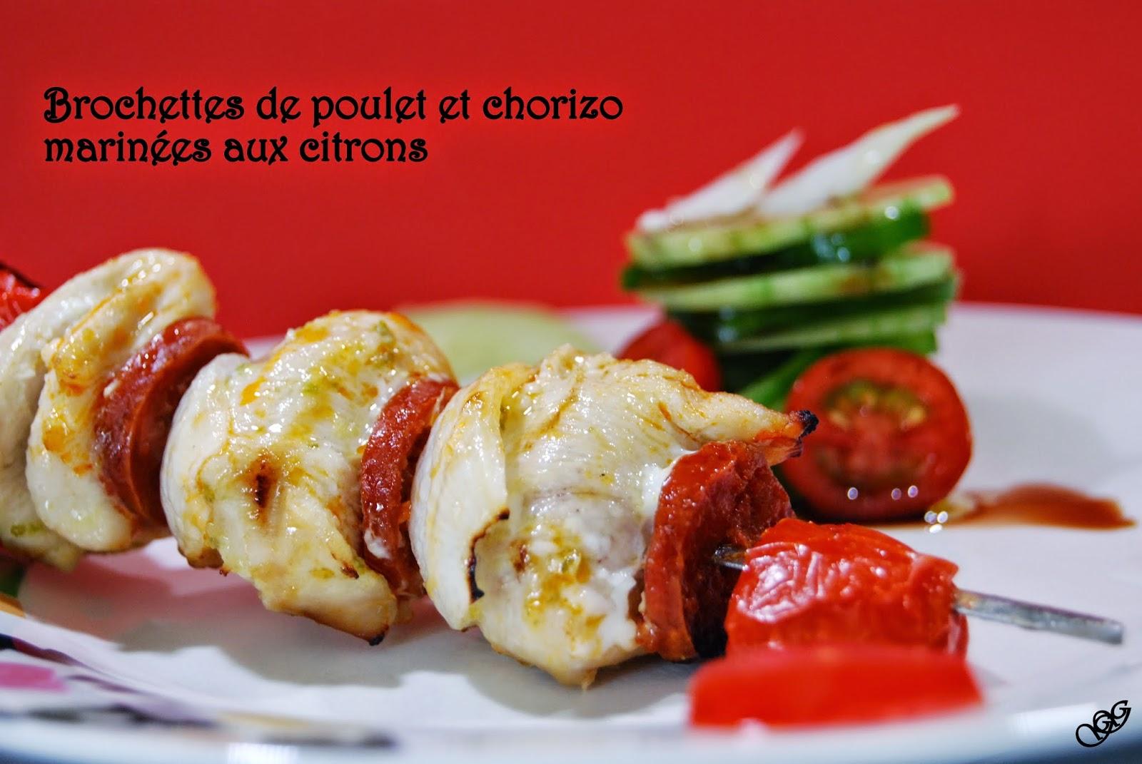 Brochettes Poulet Chorizo