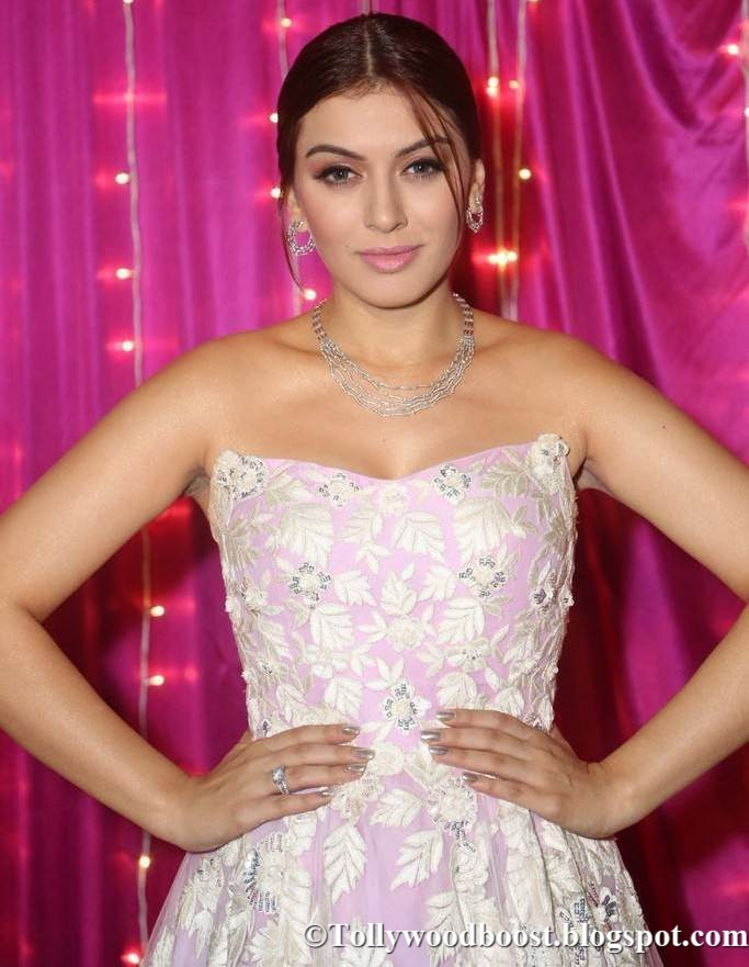 Hansika At Zee Telugu Apsara Awards 2017 In Pink Dress